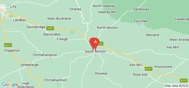Google static map for South Molton