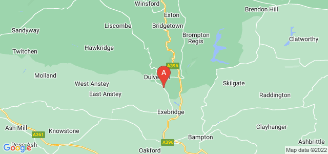Google static map for Dulverton