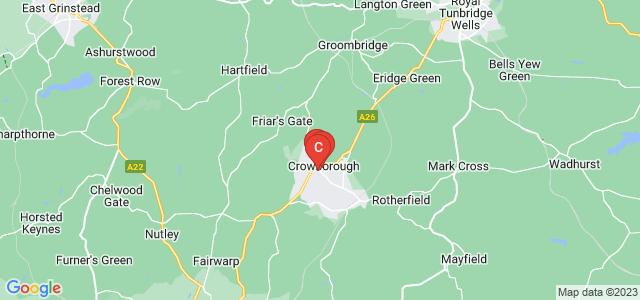 Google static map for Crowborough