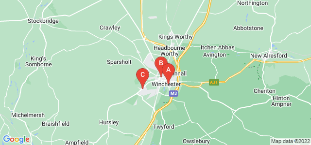 Google static map for Winchester
