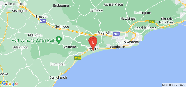 Google static map for Hythe