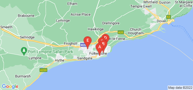 Google static map for Folkestone