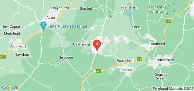 Google static map for Bordon