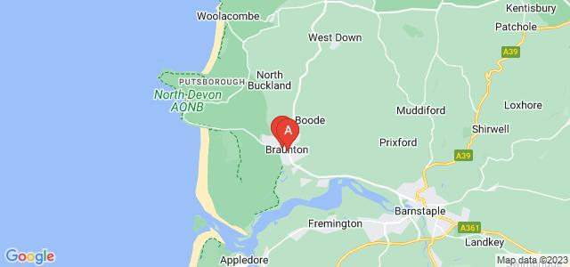 Google static map for Braunton