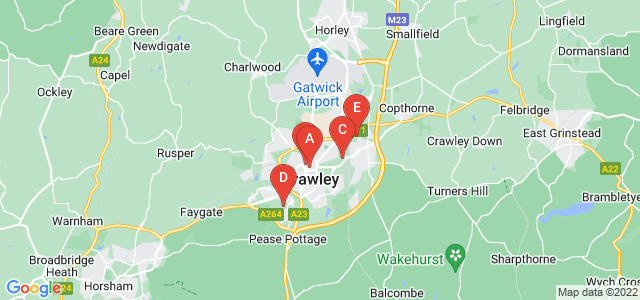 Google static map for Crawley