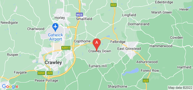 Google static map for Turners Hill Road
