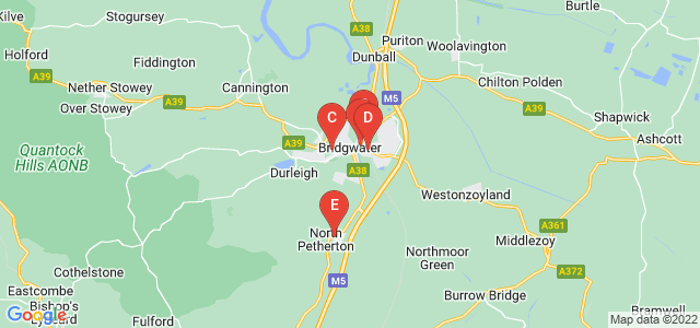 Google static map for Bridgwater