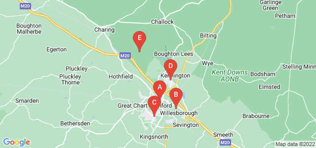 Google static map for Ashford