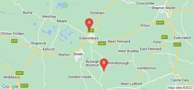 Google static map for Glastonbury