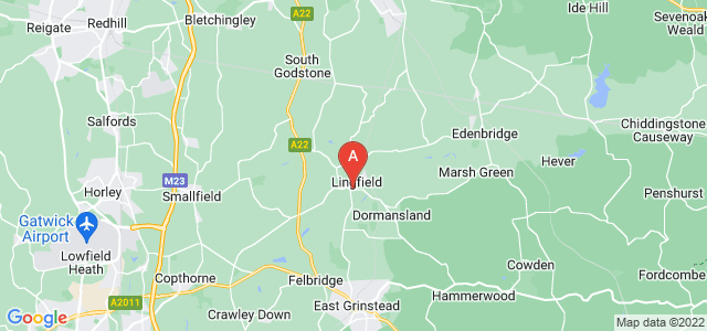 Google static map for Lingfield