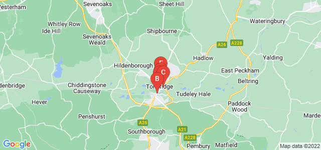 Google static map for Tonbridge