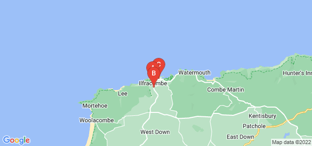 Google static map for Ilfracombe