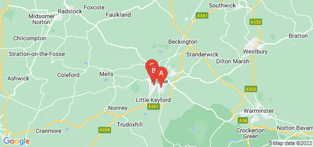 Google static map for Frome