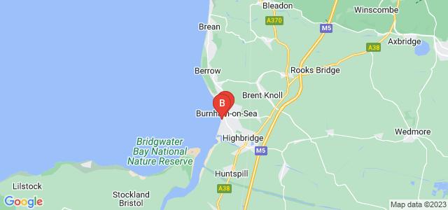 Google static map for Burnham On Sea