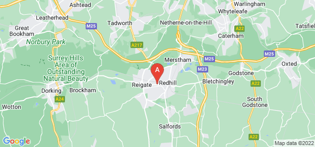 Google static map for Redhill