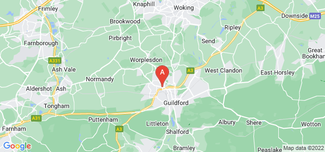Google static map for Guilford