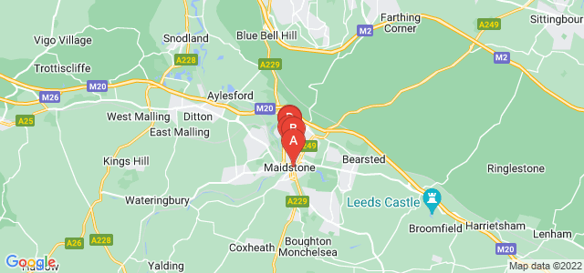 Google static map for Maidstone