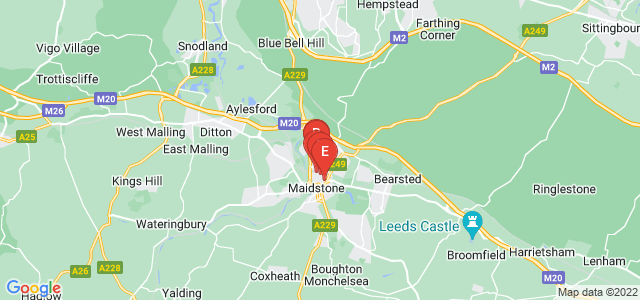 Google static map for Kent