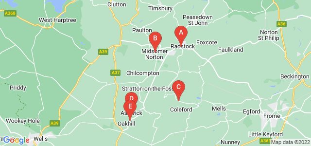 Google static map for Radstock