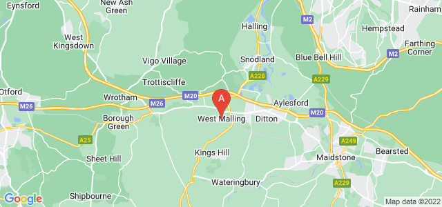 Google static map for West Malling