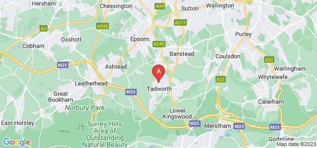 Google static map for Tadworth