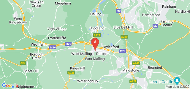 Google static map for Larkfield