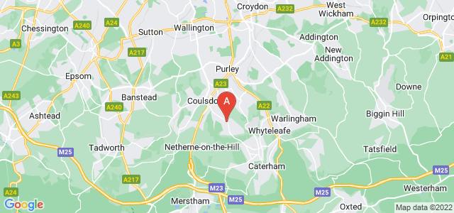 Google static map for Old Coulsdon