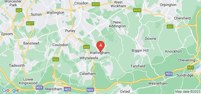 Google static map for Warlingham