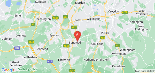 Google static map for Banstead