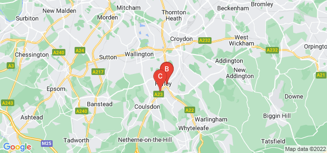 Google static map for Purley