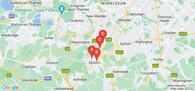 Google static map for Epsom