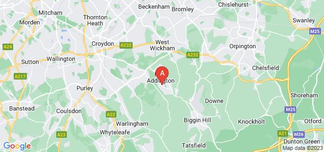 Google static map for New Addington