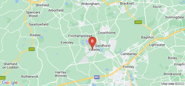 Google static map for Yateley