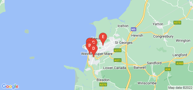 Google static map for Weston Super Mare