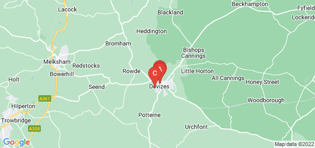 Google static map for Devizes