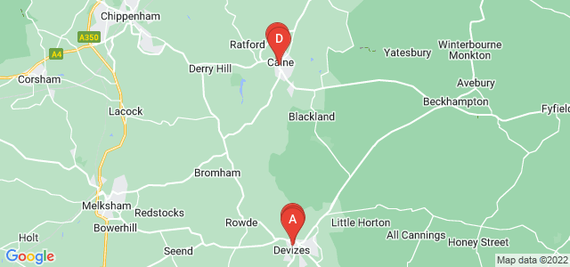 Google static map for Wiltshire