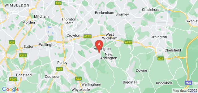 Google static map for South Croydon