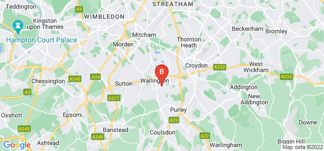 Google static map for Wallington
