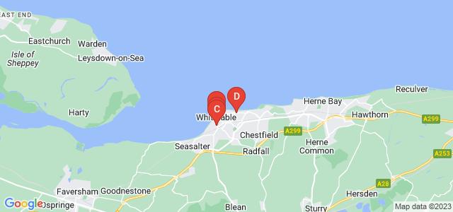 Google static map for Whitstable