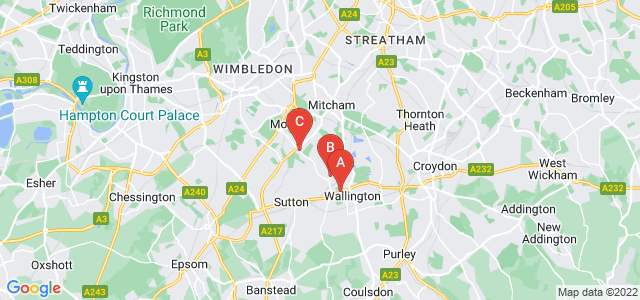Google static map for Carshalton