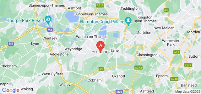 Google static map for Hersham