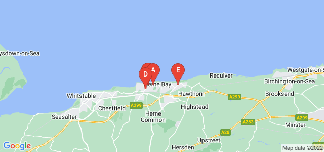 Google static map for Herne Bay