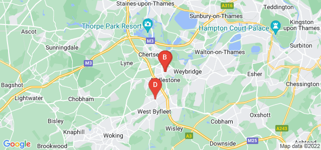 Google static map for Addlestone