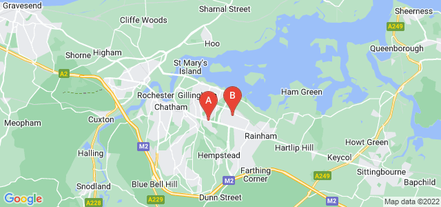 Google static map for Gillingham