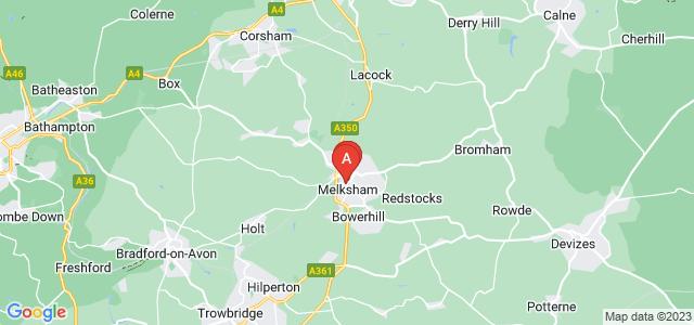 Google static map for Melksham