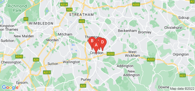 Google static map for Croydon