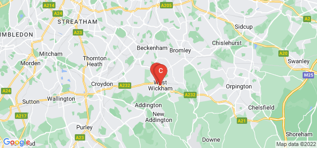 Google static map for West Wickham