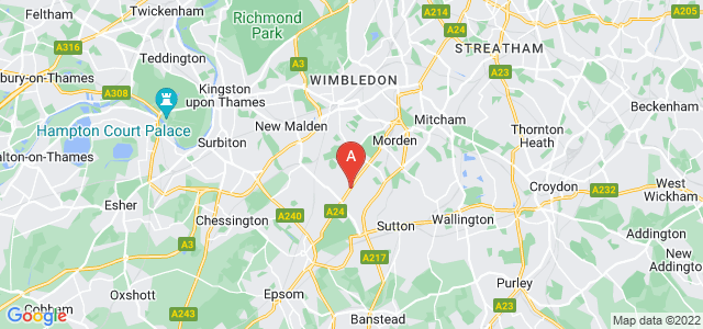 Google static map for North Cheam