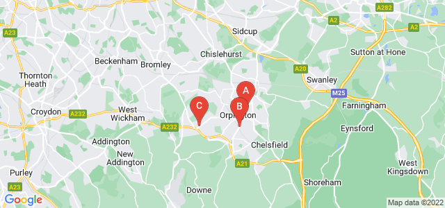 Google static map for Orpington
