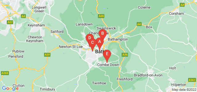Google static map for Bath